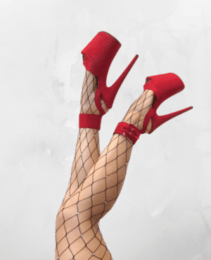 Large Net Fishnet Diamonte Stocking