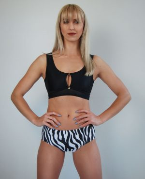 Low Waist Shorts Zebra